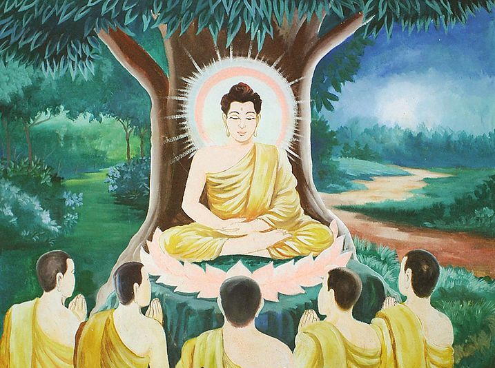 Buddha-teaching-the-group-of-five-geoscientists