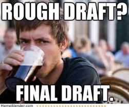 draft writing-memes