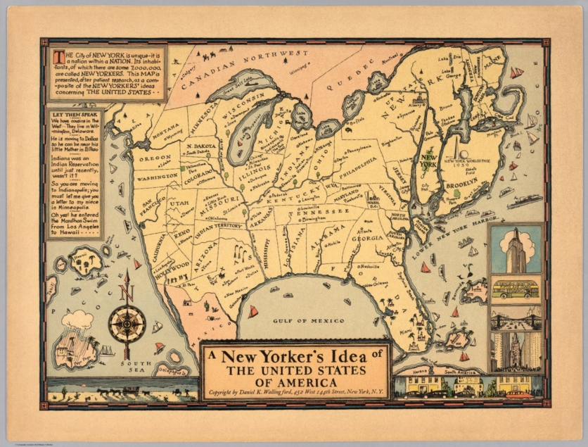 "UNIQUE MAPS OF NORTH AMERICA: Map #1 ""A New Yorker's Idea of the on show me a globe, show me a number line, show me a zip code, america state map, show me a map of eastern states, show mw a map of the usa, show map of united states, show me a map of the states, show us map with idaho, show all states in usa, show me a table of contents, show all the states with usa map, show me a title page, show me a venn diagram, show me a calendar,"