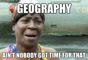 no time for GEOGRAPHY