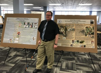 Edgell at Library Showcase 2019 (photo by amy)