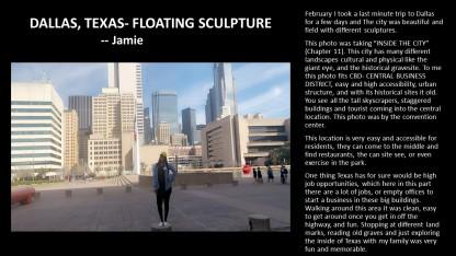 Jamie DALLAS, TEXAS- FLOATING SCULPTURE