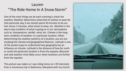 Lauren Geography- photo contest