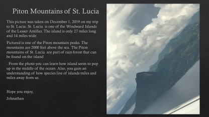 Piton Mountains of St Johnathan