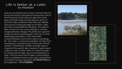 Madison lake photo Contest