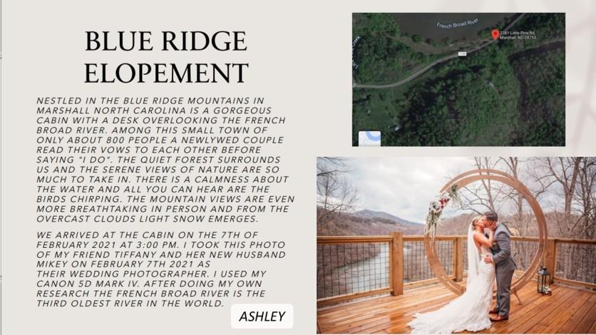 ashley honeymoon blue ridge nc