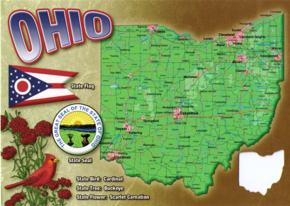 ohio on a postcard from blogspot cities and counties