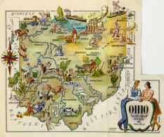 pictoral map on postcard maps and art dot com