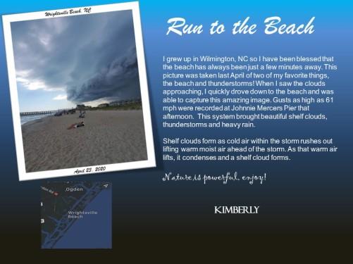RUN TO THE BEACH KIMBERLY