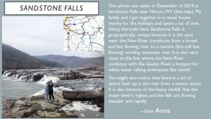Sandstone Falls from ANNA