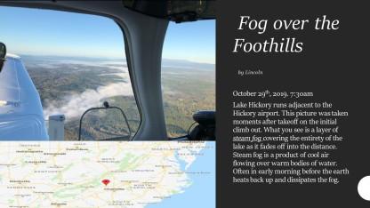 Steam Fog over the Foothills