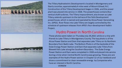 Hydro Power History in North Carolina