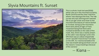 Photo Contest - Kiana NC mountains at sunset